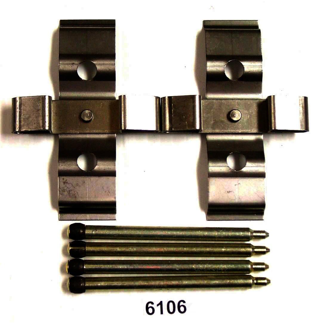 BETTER BRAKE PARTS - Disc Brake Hardware Kit (Rear) - BEB 6106