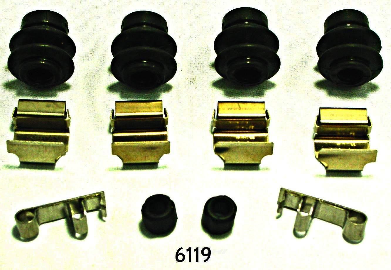 BETTER BRAKE PARTS - Disc Brake Hardware Kit (Rear) - BEB 6119
