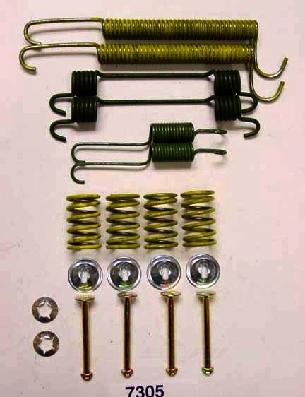 BETTER BRAKE PARTS - Drum Brake Hardware Kit (Rear) - BEB 7305