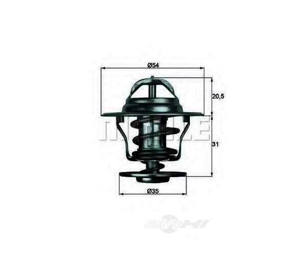 BEHR THERMOT-TRONIK THERMOSTATS - Behr Thermot-tronik Oem Engine Coolant Thermostat - BEH TX 13 87D