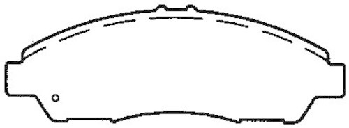 BENDIX - Bendix CT-3 Disc Brake Pad (Front) - BEN D1280CT