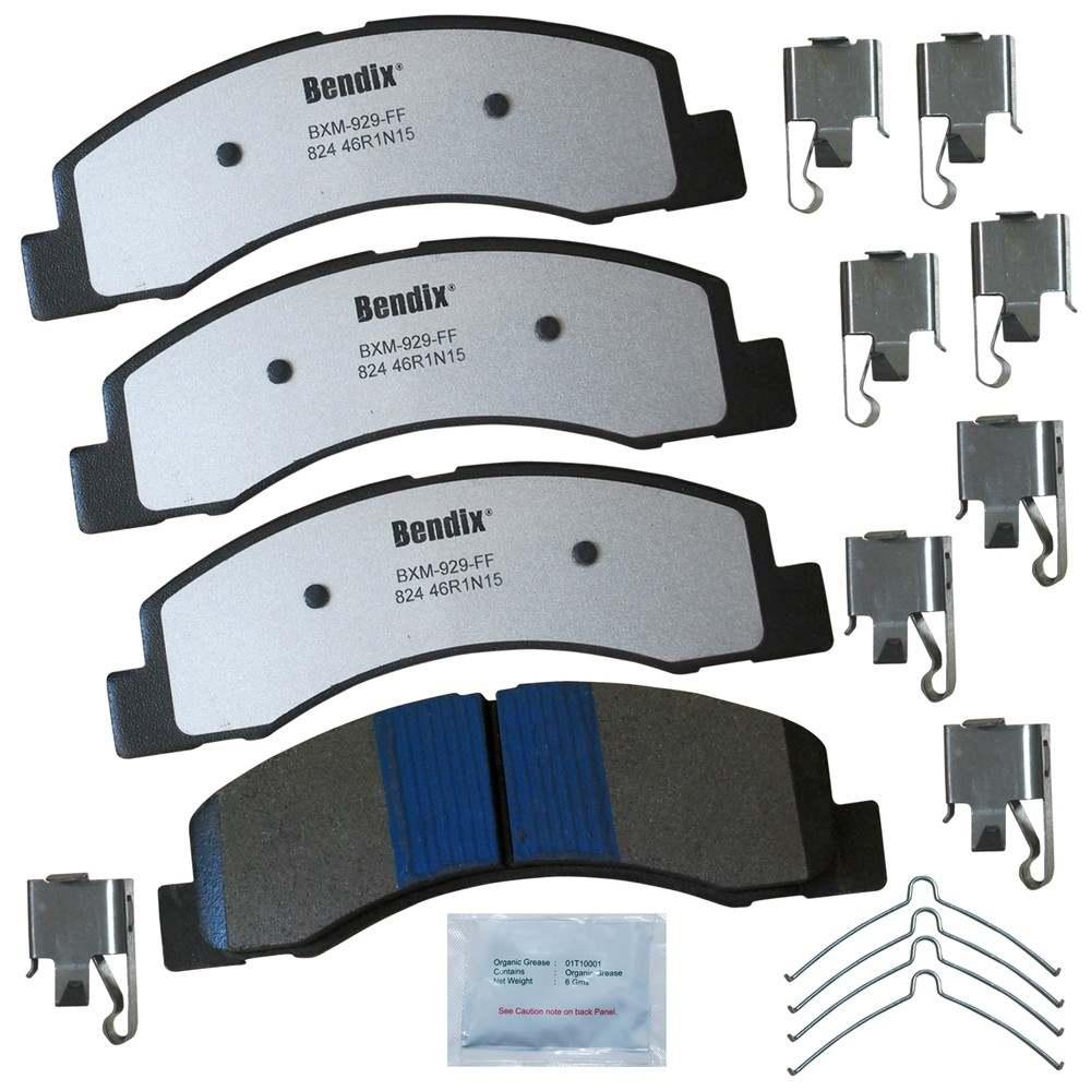 BENDIX - Fleet MetLok Disc Brake Pad (Front) - BEN MKD824FM