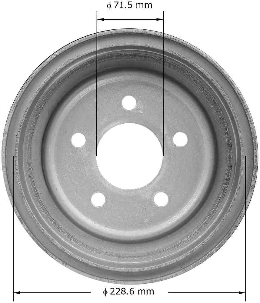 BENDIX - Premium Brake Drum - BEN PDR0314