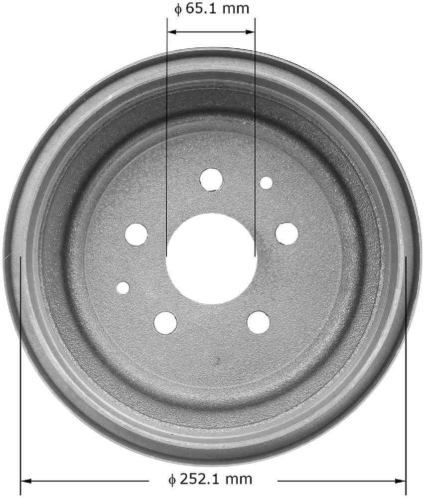 BENDIX - Premium Brake Drum - BEN PDR0446