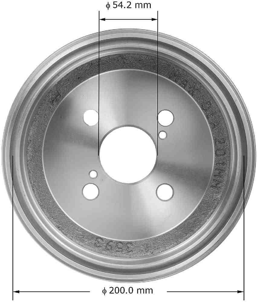 BENDIX - Premium Brake Drum - BEN PDR0515