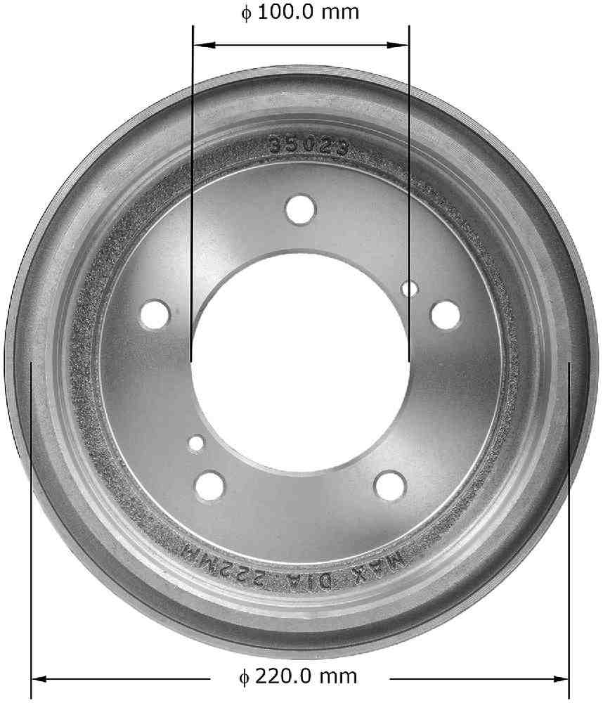 BENDIX - Premium Brake Drum - BEN PDR0683