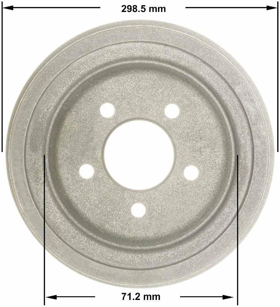 BENDIX - Premium Brake Drum (Rear) - BEN PDR0810