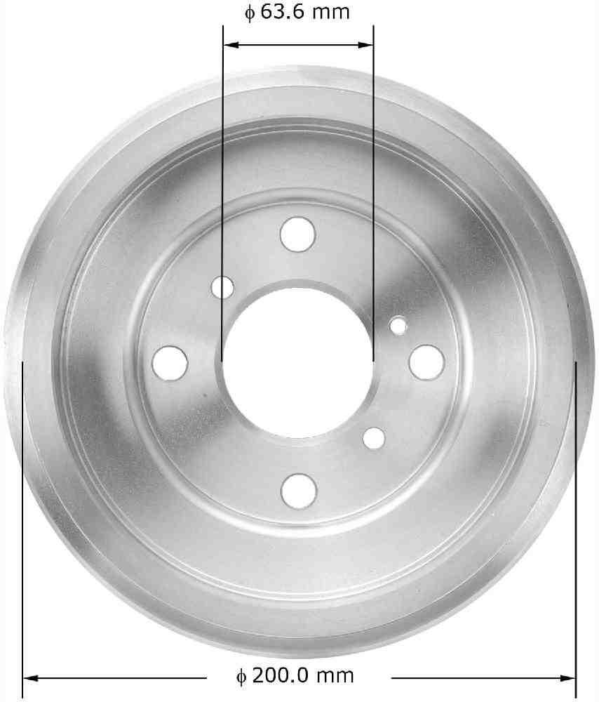 BENDIX - Premium Brake Drum (Rear) - BEN PDR0841