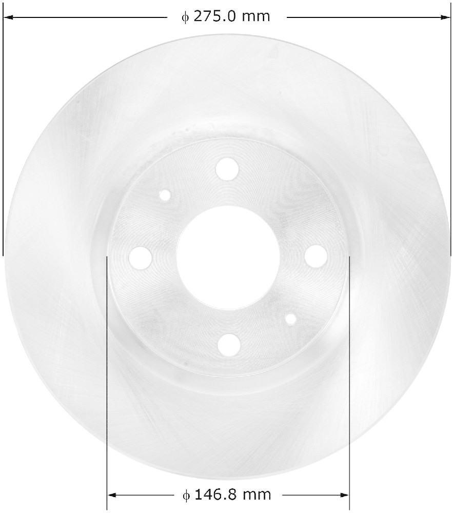 BENDIX - Premium Brake Rotor (Front) - BEN PRT5800
