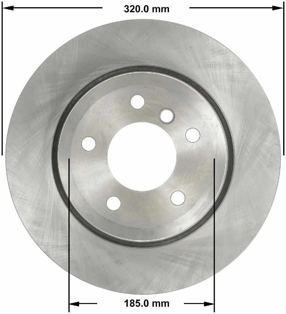 BENDIX - Premium Brake Rotor (Rear) - BEN PRT5820