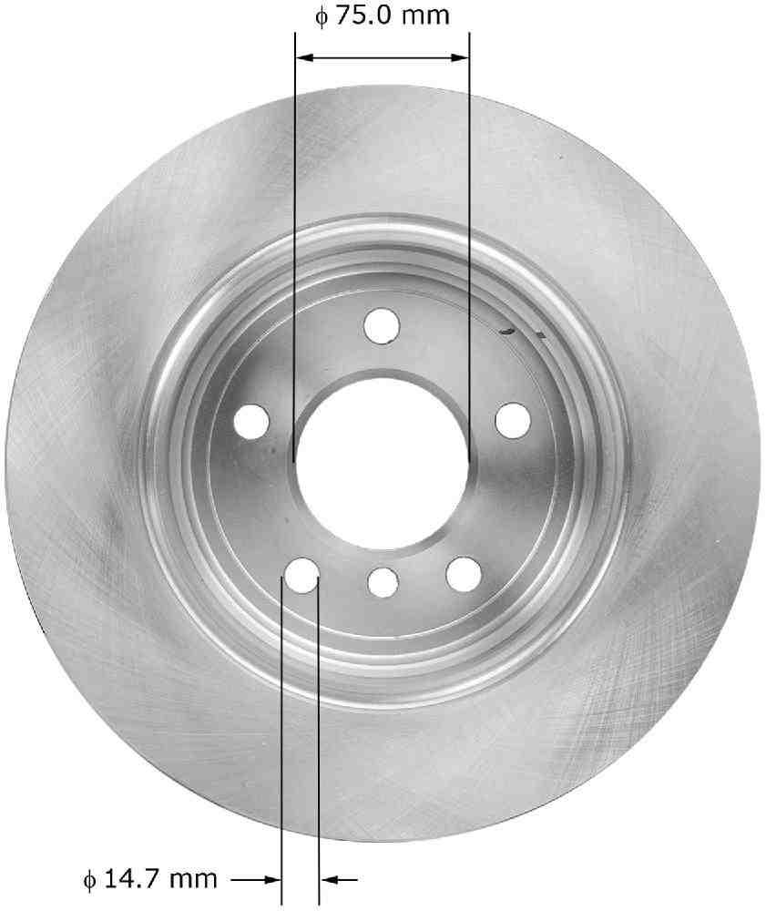 BENDIX - Premium Brake Rotor (Rear) - BEN PRT5885