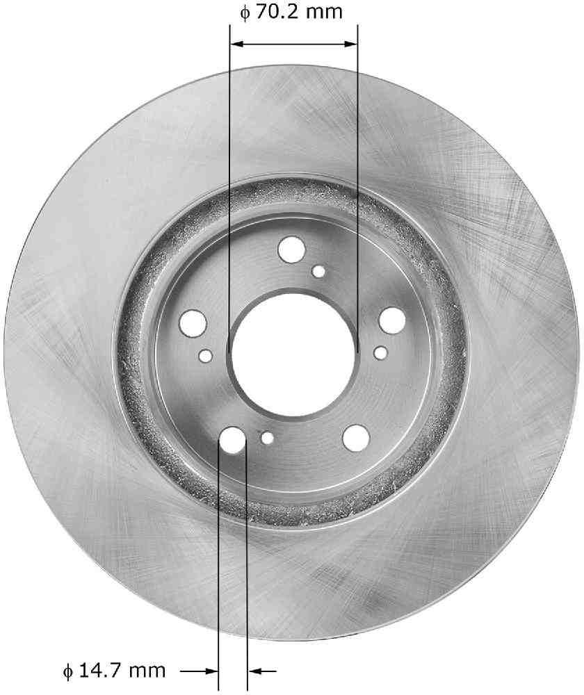 BENDIX - Disc Brake Rotor - BEN PRT5951
