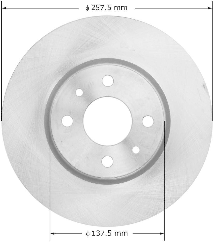 BENDIX - Premium Brake Rotor (Front) - BEN PRT6122