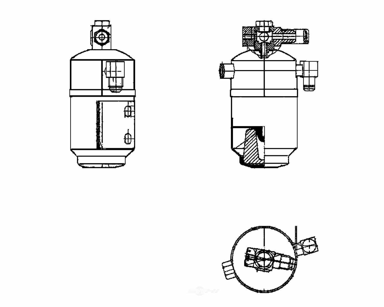 BEHR HELLA SERVICE - A/C Receiver Drier - BHS 351195181