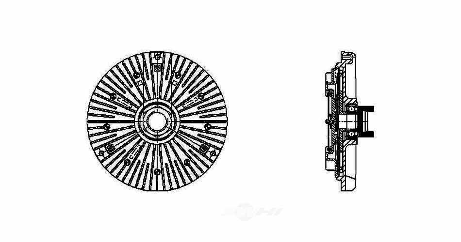 BEHR HELLA SERVICE - New PREMIUM Perfect fit Engine Cooling Fan Clutch - BHS 376732111