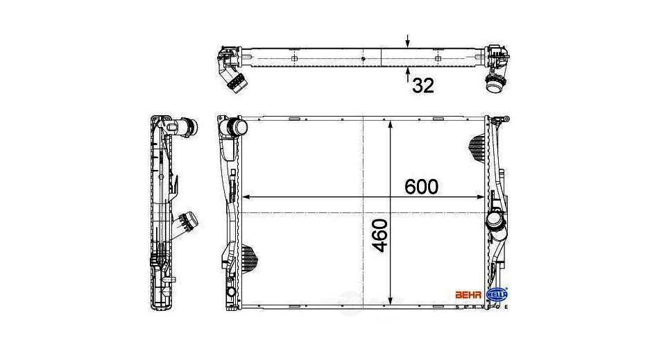 BEHR HELLA SERVICE - New PREMIUM Perfect fit Radiator - BHS 376754061