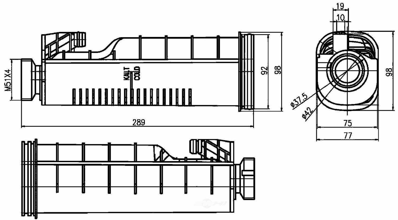 BEHR HELLA SERVICE - Engine Coolant Reservoir - BHS 376755091