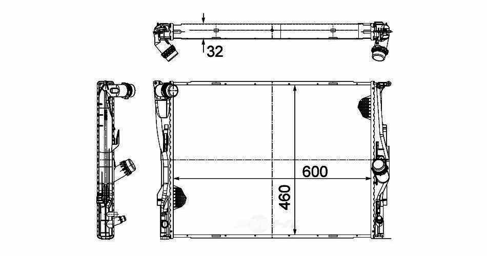 BEHR HELLA SERVICE - New PREMIUM Perfect fit Radiator - BHS 376782071