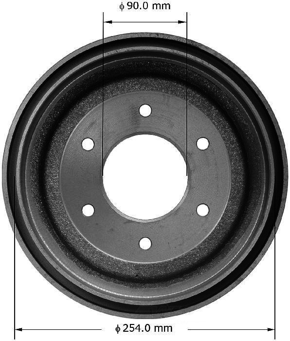 BENDIX PREMIUM DRUM AND ROTOR - Bendix Brake Drum - BPD PDR0374