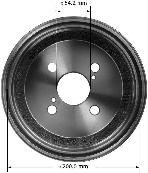 BENDIX PREMIUM DRUM AND ROTOR - Bendix Brake Drum - BPD PDR0515