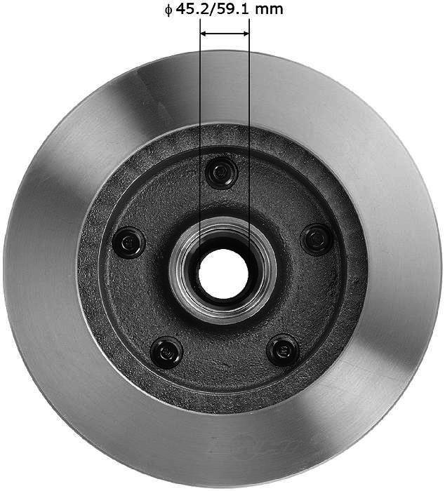 BENDIX PREMIUM DRUM AND ROTOR - Bendix Brake Rotor (Front) - BPD PRT1067