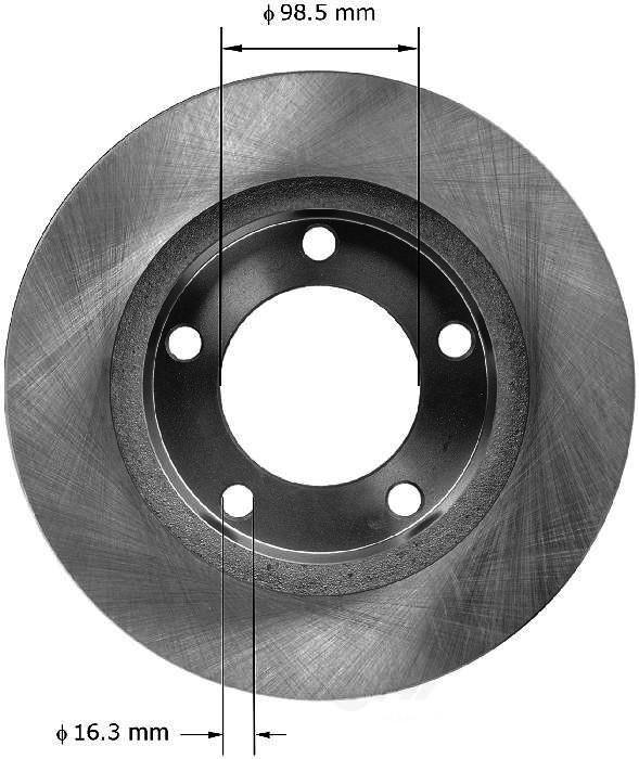 BENDIX PREMIUM DRUM AND ROTOR - Bendix Brake Rotor (Front) - BPD PRT1214