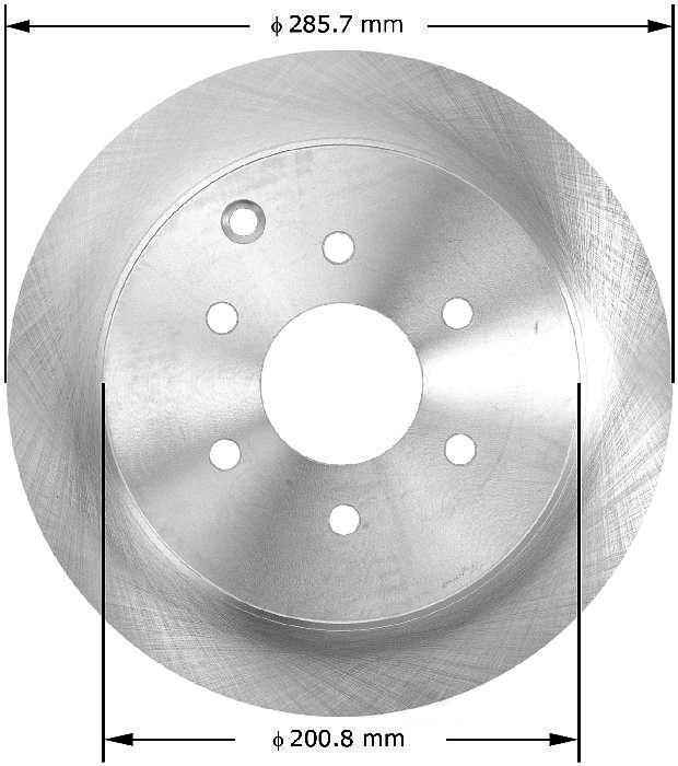 BENDIX PREMIUM DRUM AND ROTOR - Bendix Brake Rotor - BPD PRT5716
