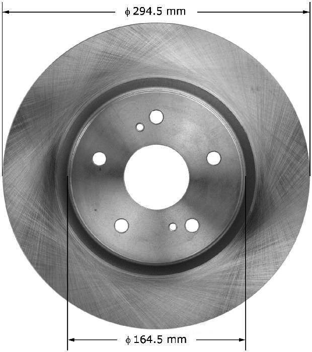 BENDIX PREMIUM DRUM AND ROTOR - Bendix Brake Rotor - BPD PRT5879