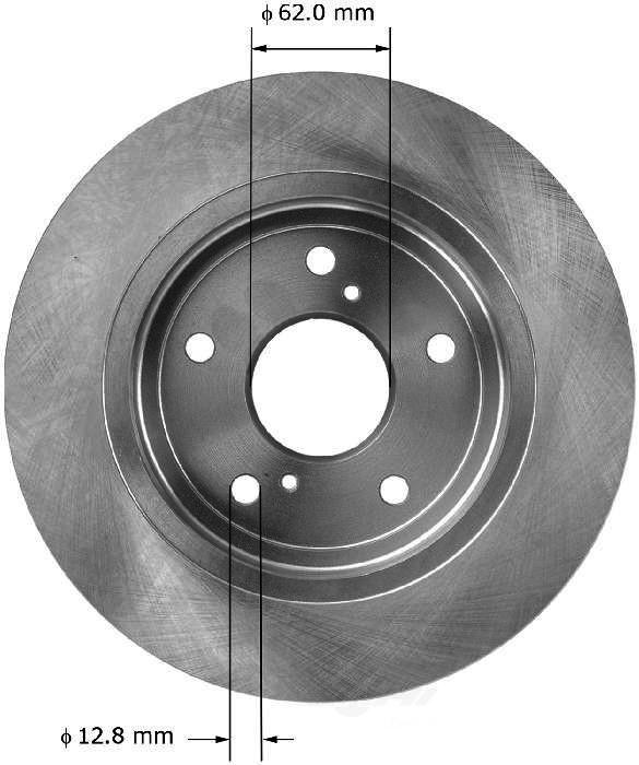 BENDIX PREMIUM DRUM AND ROTOR - Bendix Brake Rotor - BPD PRT5942