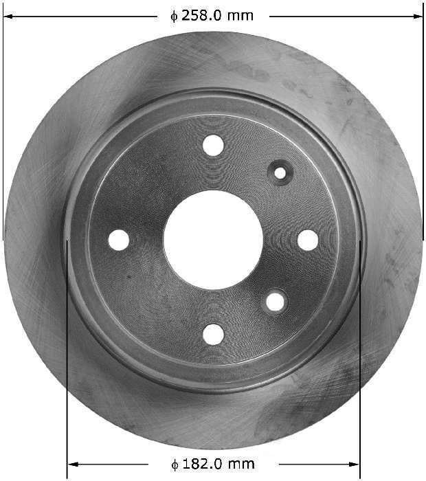 BENDIX PREMIUM DRUM AND ROTOR - Bendix Brake Rotor - BPD PRT6032