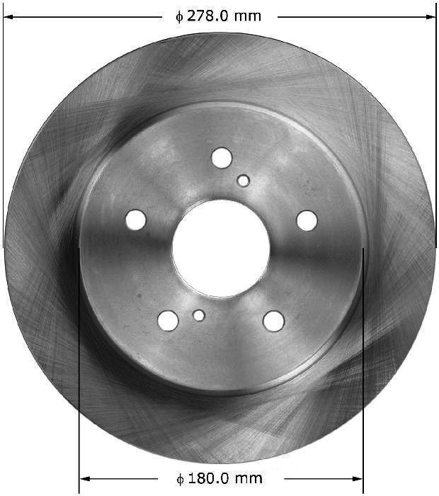 BENDIX PREMIUM DRUM AND ROTOR - Bendix Brake Rotor - BPD PRT6117