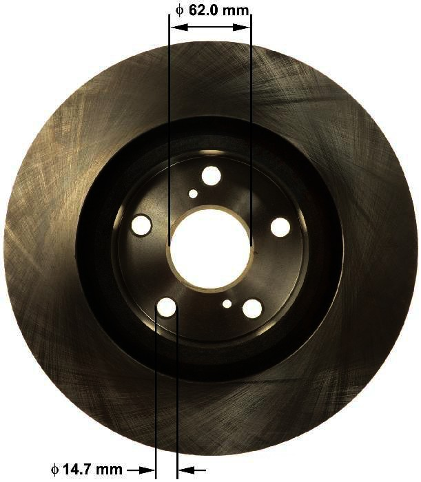 BENDIX PREMIUM DRUM AND ROTOR - Bendix Brake Rotor (Front) - BPD PRT6155
