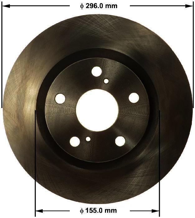 BENDIX PREMIUM DRUM AND ROTOR - Bendix Brake Rotor - BPD PRT6155