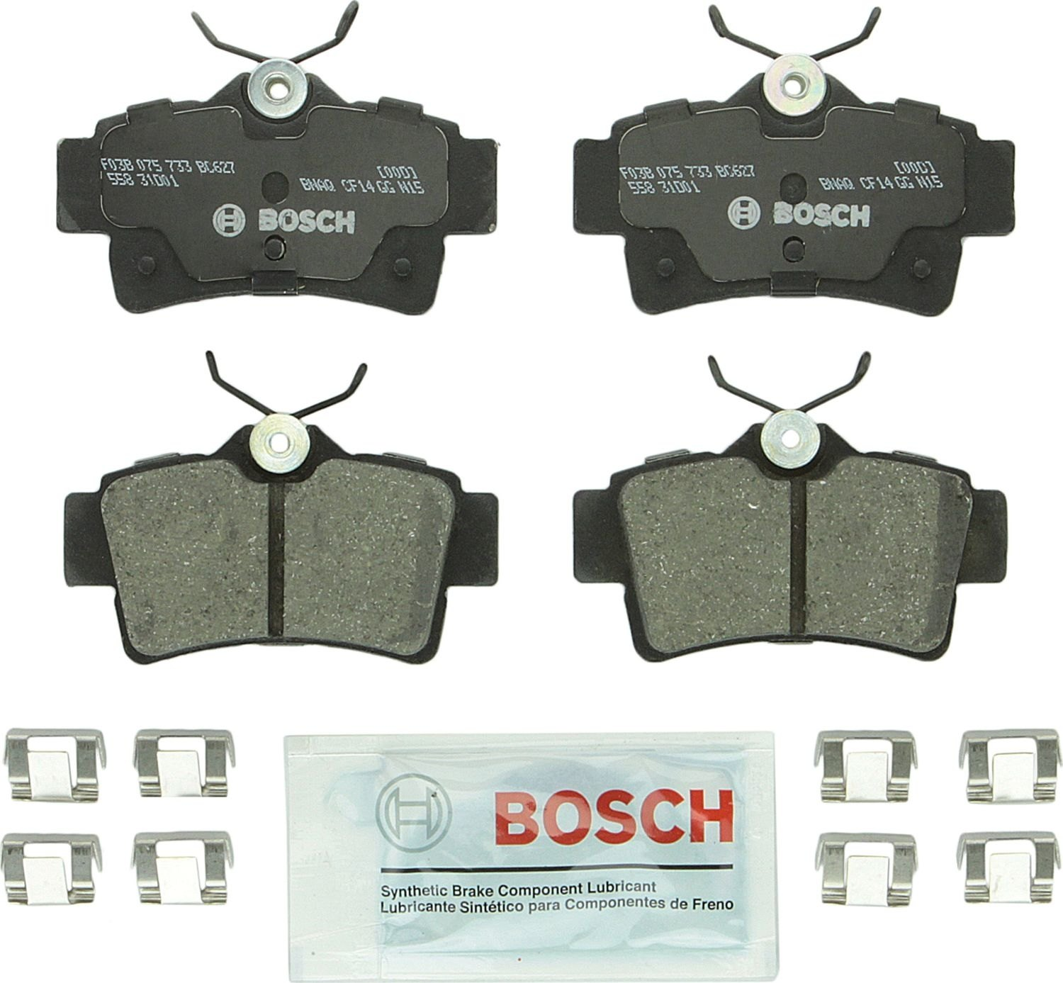 BOSCH BRAKE - Bosch QuietCast Ceramic Pads w/ Hardware (Rear) - BQC BC627