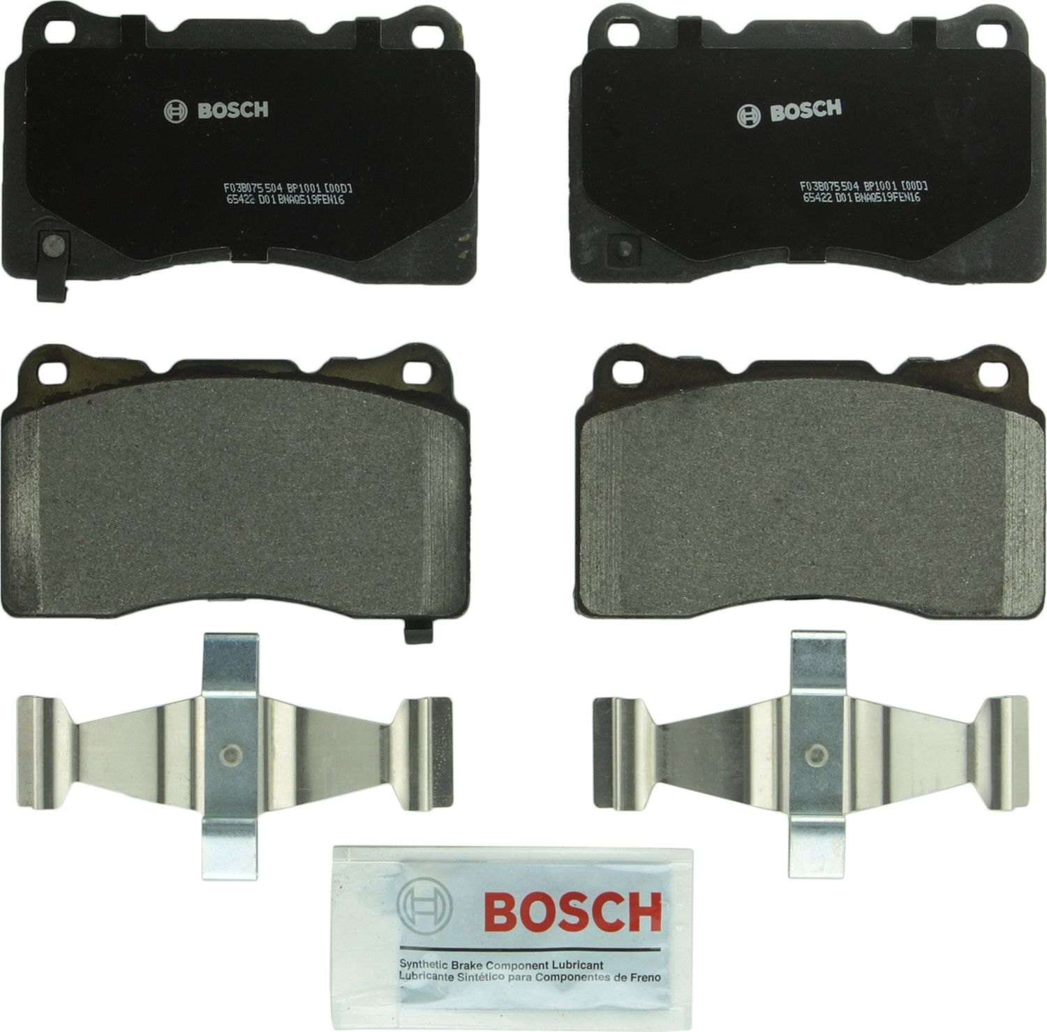 BOSCH BRAKE - Bosch Quietcast Pads W/ Hardware - BQC BP1001