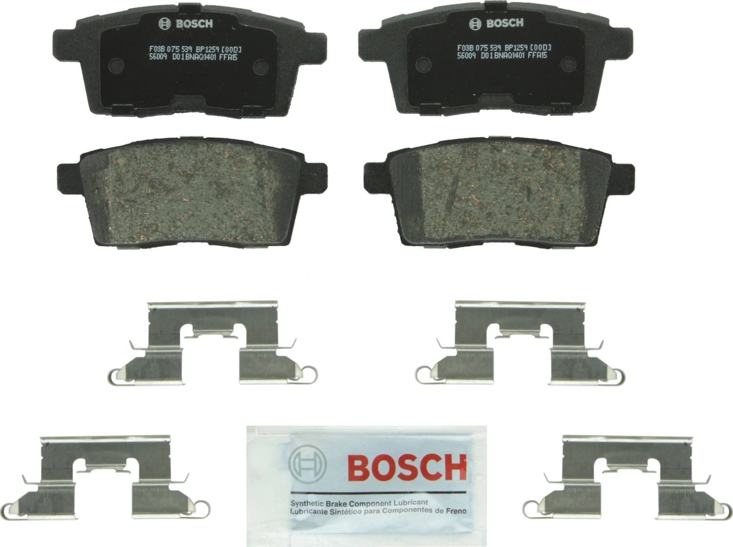 BOSCH BRAKE - Bosch QuietCast Pads w/ Hardware (Rear) - BQC BP1259