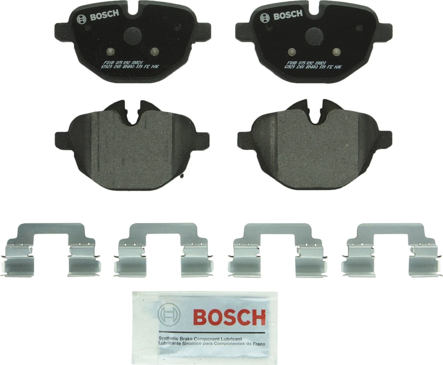 BOSCH BRAKE - Bosch Quietcast Pads W/ Hardware (Rear) - BQC BP1473