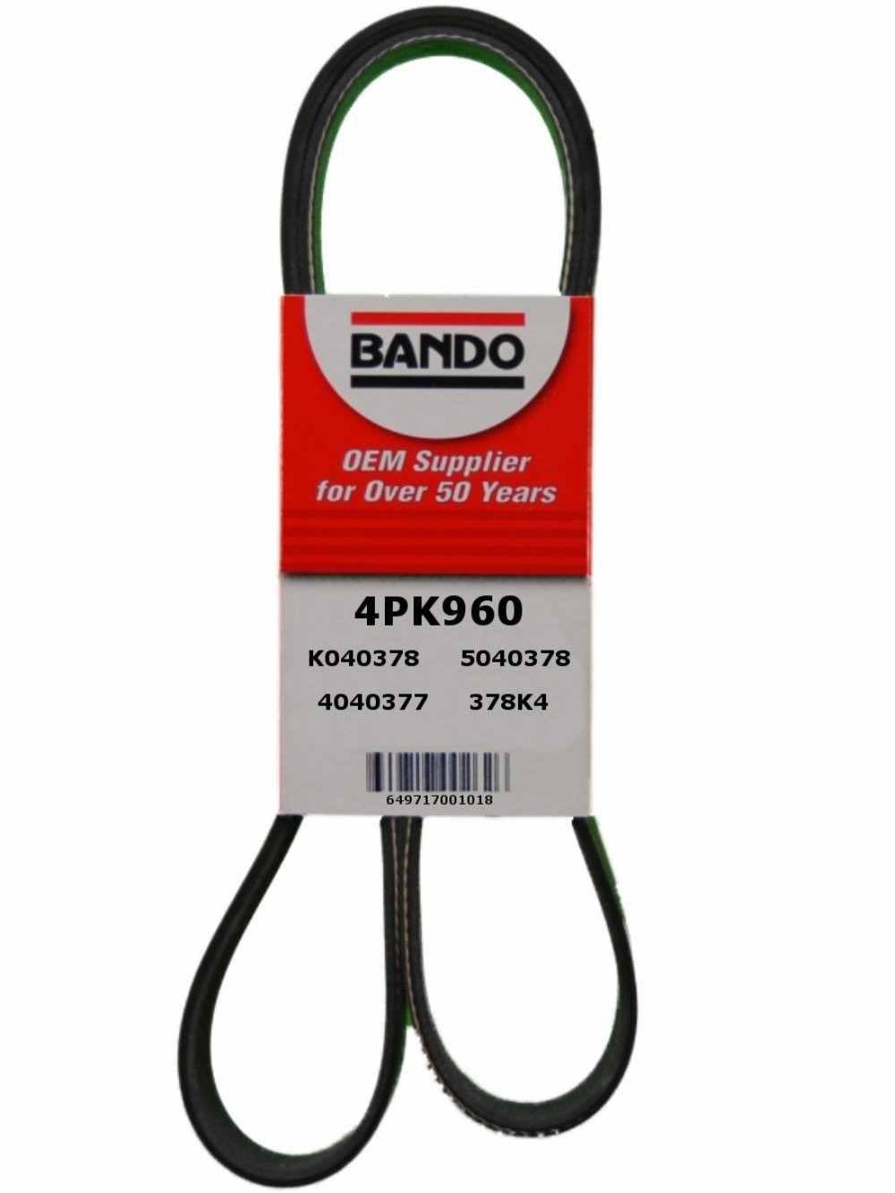 BANDO - Rib Ace Precision Engineered V-Ribbed Belt (Compressor) - BWO 4PK960