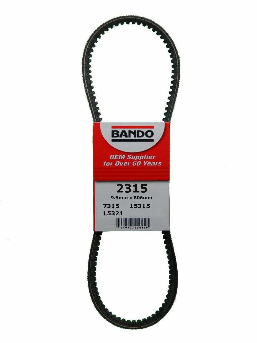 BANDO - RPF Precision Engineered Raw Edge Cogged V-Belt - BWO 2315