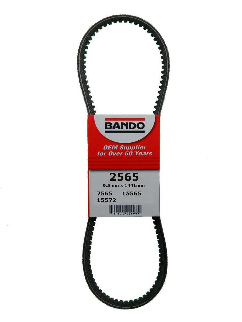 BANDO - RPF Precision Engineered Raw Edge Cogged V-Belt (Fan, Air Conditioning and Power Steering) - BWO 2565
