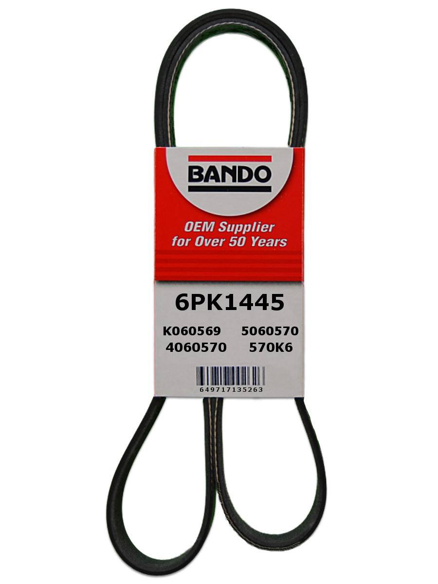 BANDO - Rib Ace Precision Engineered V-Ribbed Belt (Alternator, Water Pump and Power Steering) - BWO 6PK1445