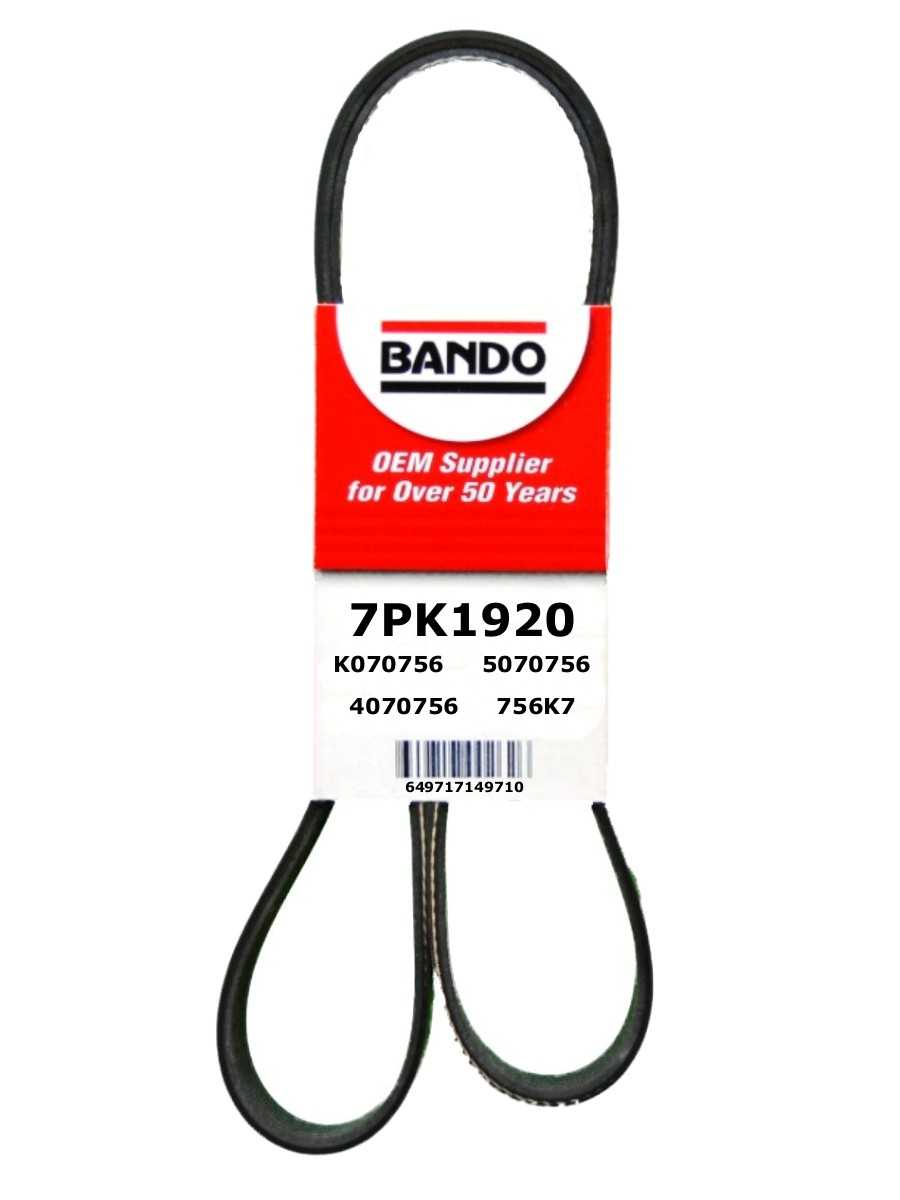 BANDO - Rib Ace Precision Engineered V-Ribbed Belt (Water Pump, Alternator, Air Conditioning and Power Steering) - BWO 7PK1920