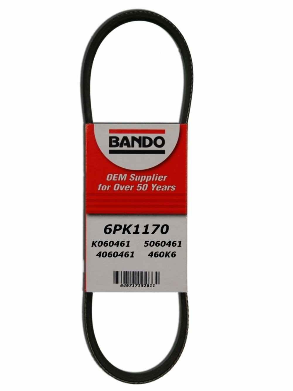BANDO W\/O INDUSTRY - Rib Ace Precision Engineered V-Ribbed Belt - BWO 6PK1170