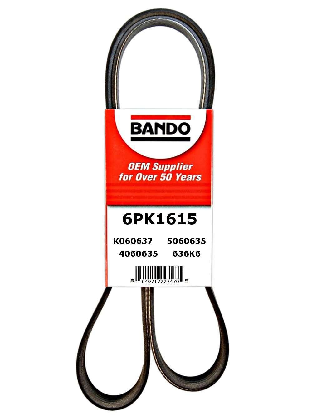 BANDO - Serpentine Belt - BWO 6PK1615