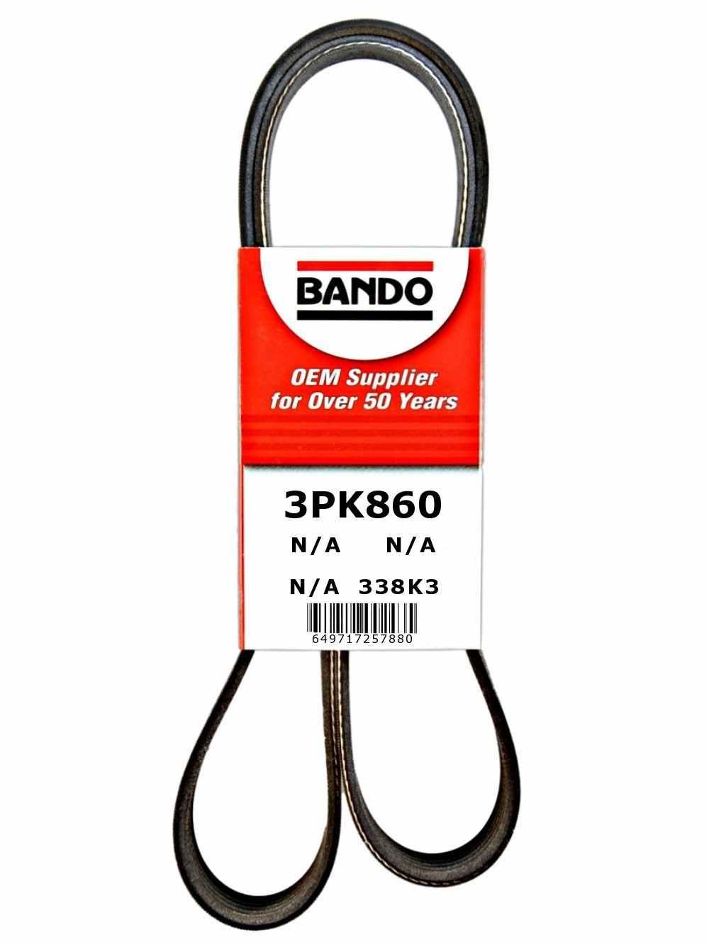 BANDO - Rib Ace Precision Engineered V-Ribbed Belt - BWO 3PK860