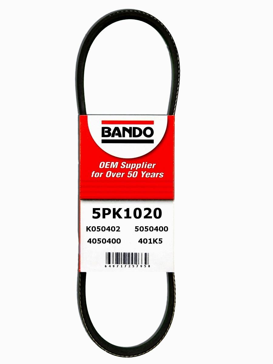 BANDO - Rib Ace Precision Engineered V-Ribbed Belt (Alternator and Compressor) - BWO 5PK1020