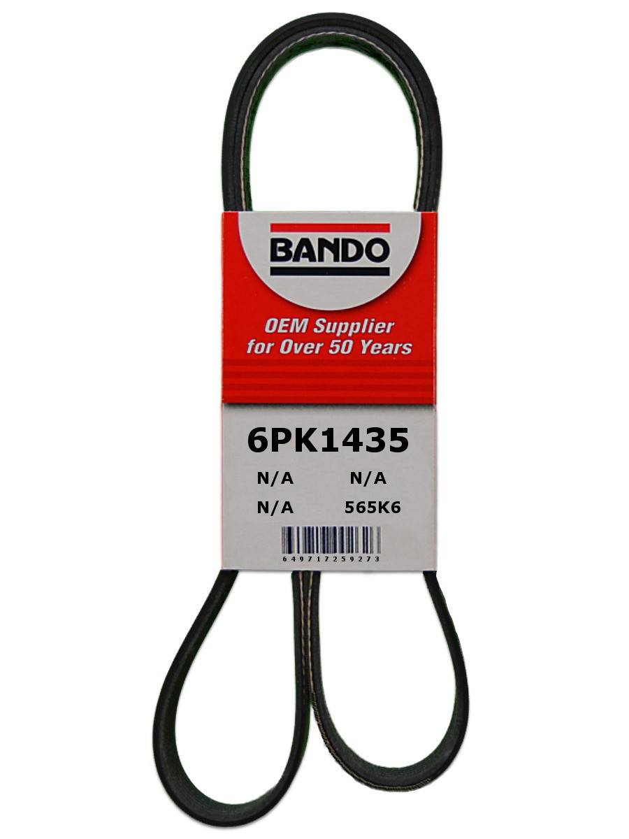 BANDO - Rib Ace Precision Engineered V-Ribbed Belt (Alternator and Compressor) - BWO 6PK1435