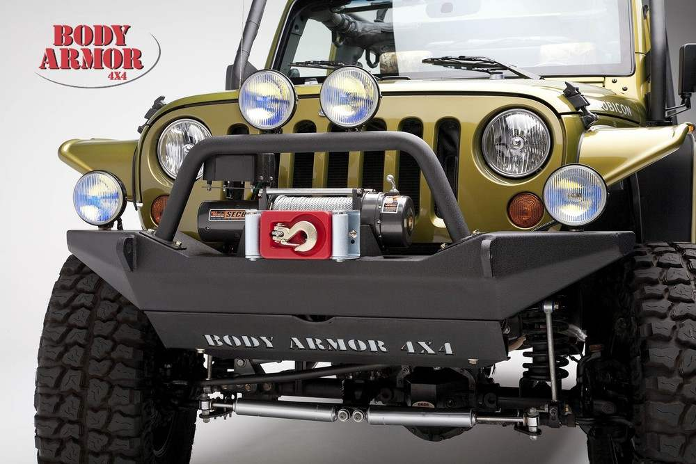 BODY ARMOR - Front Bumper for Jeep JK Sheet Metal Design - BYA JK-19531