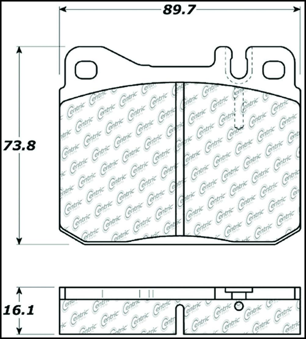 CENTRIC PARTS - Posi-Quiet Metallic Disc Brake Pad w/Shims-Preferred (Front) - CEC 104.01451