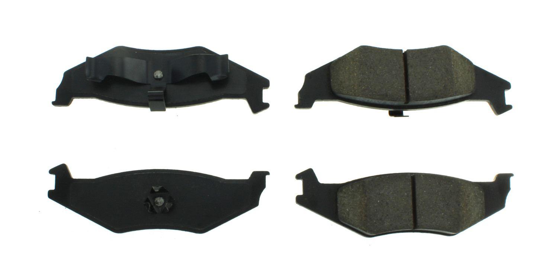 CENTRIC PARTS - Posi-Quiet Metallic Disc Brake Pad w/Shims & Hardware-Preferred (Rear) - CEC 104.05120